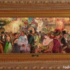 Arte: CARNAVAL - EMILIO PAYES - OLEO SOBRE LIENZO - 83X53 CM. Lote 134280342