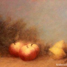 Arte: ESCUELA ESPAÑOLA S.XX, OLEO SOBRE TABLA, BODEGÓN. FIRMADO Y FECHADO. 32X26CM. Lote 134281766