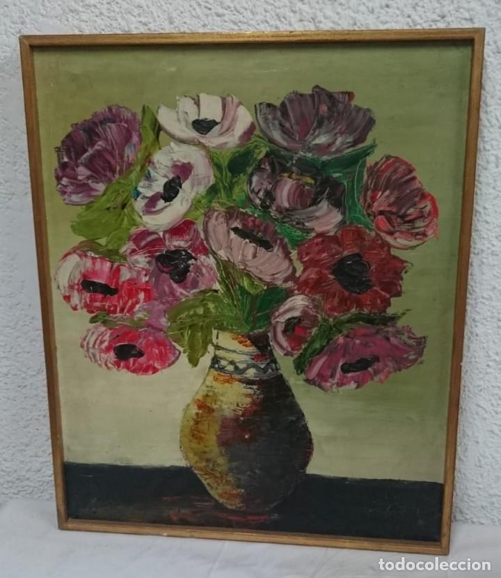 CUADRO DE FLORES, OLÉO, SIN FIRMA, PRECIOSO. (Arte - Pintura - Pintura al Óleo Contemporánea )
