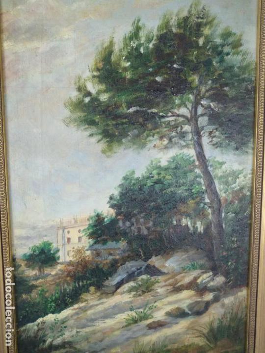 Arte: PAISAJE CAMPESTRE- PALACETE DE CAMPO - OLEO FIRMADO - MARCO EN MADERA DORADO - - Foto 2 - 134445726