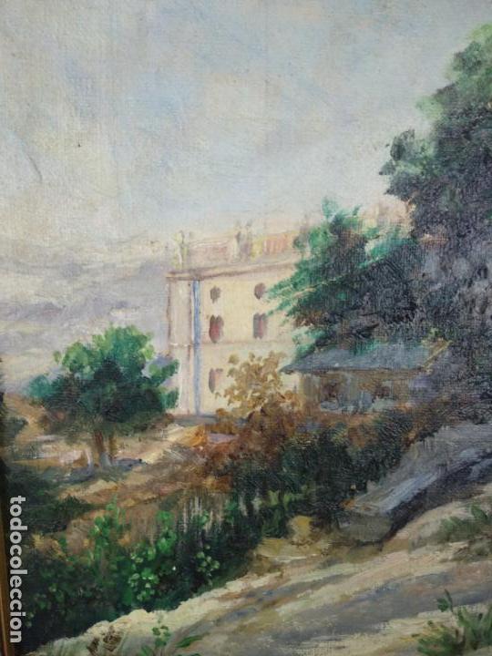 Arte: PAISAJE CAMPESTRE- PALACETE DE CAMPO - OLEO FIRMADO - MARCO EN MADERA DORADO - - Foto 3 - 134445726