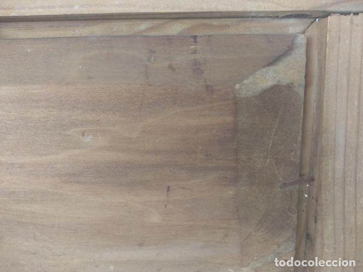 Arte: PAISAJE MARINO- PESCADORES FAENANDO - OLEO SOBRE TABLA FIRMADO - MARCO DE LA ÉPOCA EN MADERA DORADO - Foto 9 - 134446170