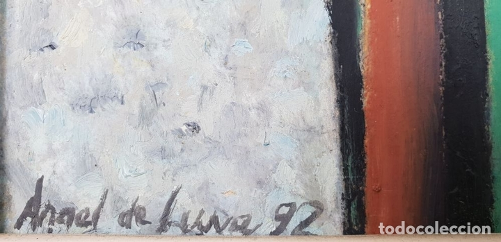 Arte: RETRATO DE FLAMENCA. ÓLEO SOBRE TABLA. ANGEL DE LUNA. 1992. - Foto 6 - 134532934