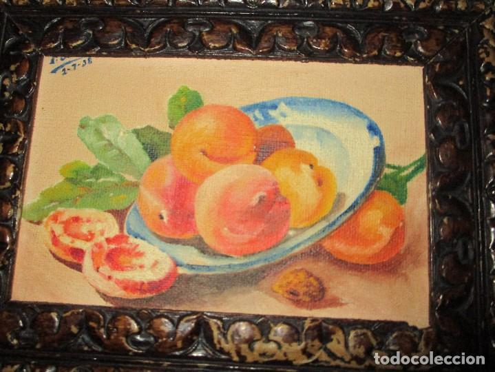 Arte: OLEO INTERESANTE DE F. JULIA PRECIOSO BODEGON FIRMADO MARCO ESPECTACULAR PINTURA ANTIGUA - Foto 3 - 134645714