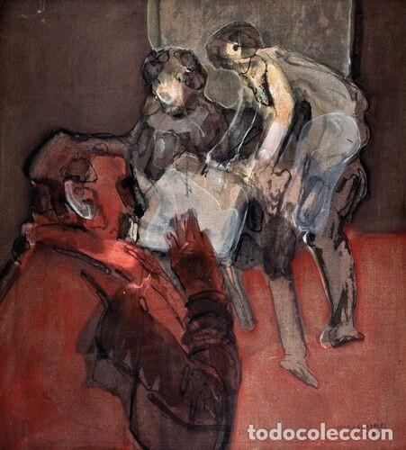 PEDRO GONZÁLEZ. S/T. 1987. 95 X 84,5 CM (Arte - Pintura - Pintura al Óleo Contemporánea )