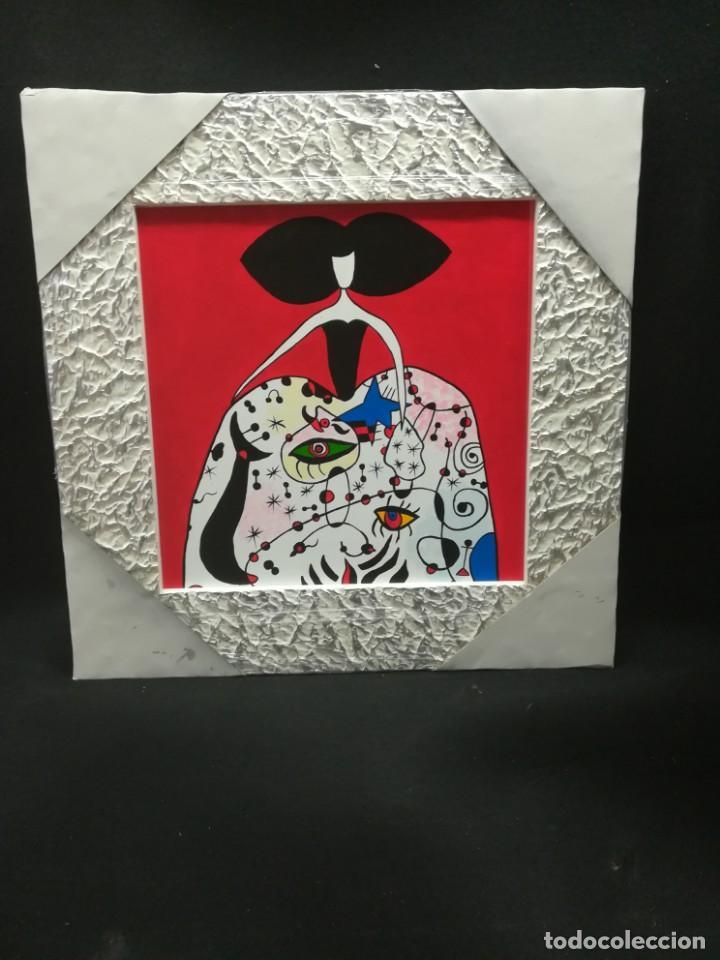 MENINA ESTILO JOAN MIRO (Arte - Pintura - Pintura al Óleo Contemporánea )