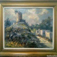 Arte: LLUIS BONADA BERENGUER. PINTOR NACIDO EN SABADELL EN 1908.(PAISAJE IBICENCO) IBIZA.. Lote 134718769
