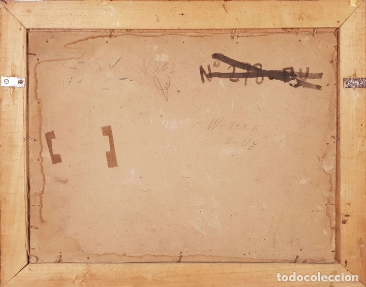 Arte: RETRATO DE MAJA. ÓLEO SOBRE CARTÓN. ANDRÉS LARRAGA. SIGLO XIX. - Foto 3 - 134751722