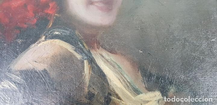Arte: RETRATO DE MAJA. ÓLEO SOBRE CARTÓN. ANDRÉS LARRAGA. SIGLO XIX. - Foto 5 - 134751722