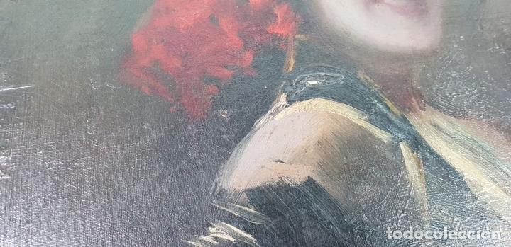 Arte: RETRATO DE MAJA. ÓLEO SOBRE CARTÓN. ANDRÉS LARRAGA. SIGLO XIX. - Foto 6 - 134751722