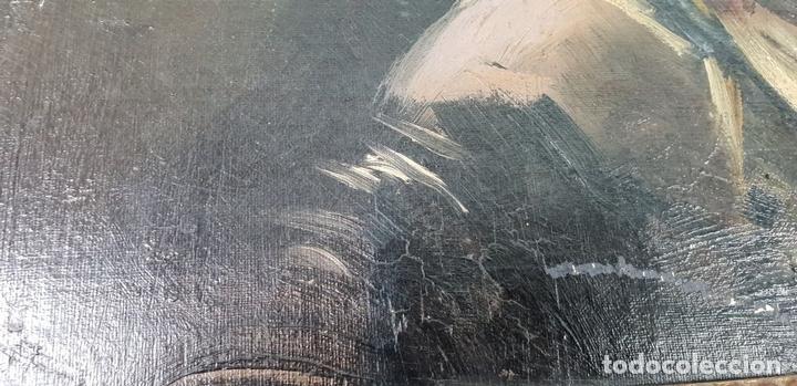 Arte: RETRATO DE MAJA. ÓLEO SOBRE CARTÓN. ANDRÉS LARRAGA. SIGLO XIX. - Foto 8 - 134751722