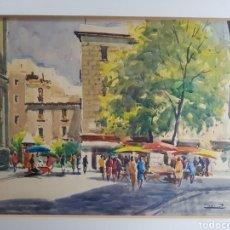 Arte: PLAZA DE MERCADO POR JORDI SERRAT. Lote 134802995