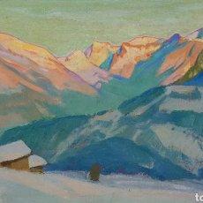 Arte: ERNST HODEL (LUCERNE 1881-1955) PRECIOSA PINTURA FIRMADA.. Lote 134823655