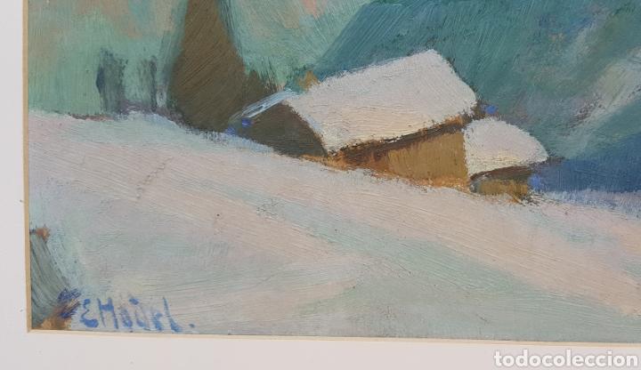 Arte: Ernst Hodel (Lucerne 1881-1955) preciosa pintura firmada. - Foto 2 - 134823655