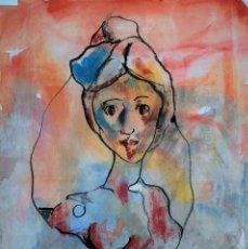 Arte: MIQUEL TORNER DE SEMIR - FIGURA - TÉCNICA MIXTA. Lote 134846630