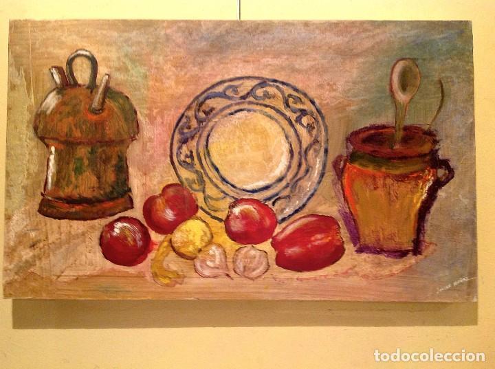 CUADRO ÓLEO ORIGINAL DEL PINTOR JULIAN MUÑOZ (Arte - Pintura - Pintura al Óleo Moderna sin fecha definida)