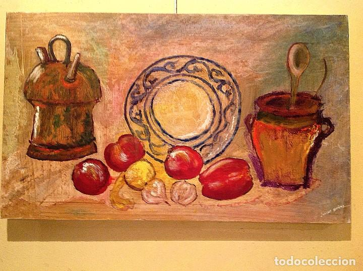 Arte: Cuadro Óleo Original Del Pintor Julian Muñoz - Foto 3 - 134847042