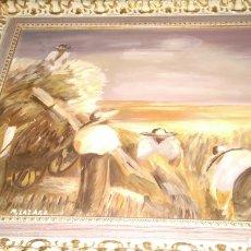 Arte: PINTURA AL OLEO FIRMADA.M.LAZARO.. Lote 134874173