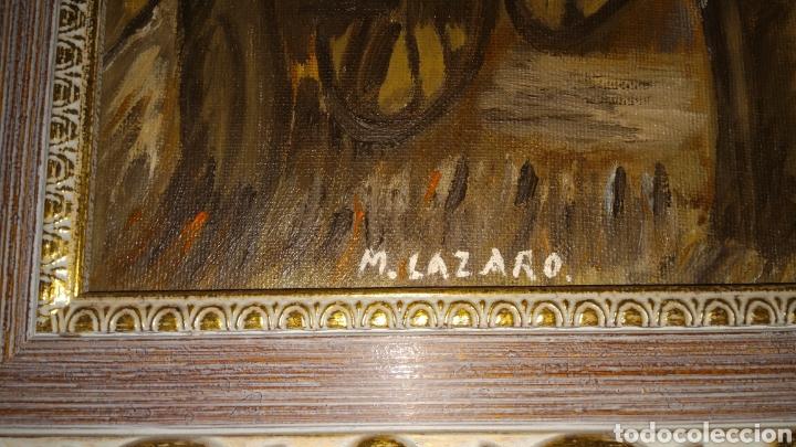Arte: Pintura al oleo firmada.M.lazaro. - Foto 3 - 134874173