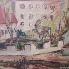 Art: BIRGER LUNDQUIST (SUECIA 1910-1952). ÓLEO SOBRE TABLEX. FIRMADO. Lote 134891055