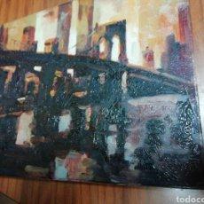 Arte: OLEO PINTADO A MANO 25X20 AUTOR DESCONOCIDO. Lote 134939051