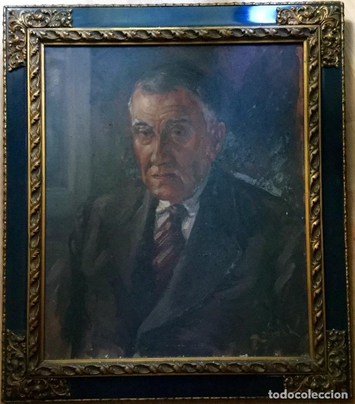ANTIGUO RETRATO MASCULINO FIRMADO R.VIDAL (Arte - Pintura - Pintura al Óleo Antigua sin fecha definida)