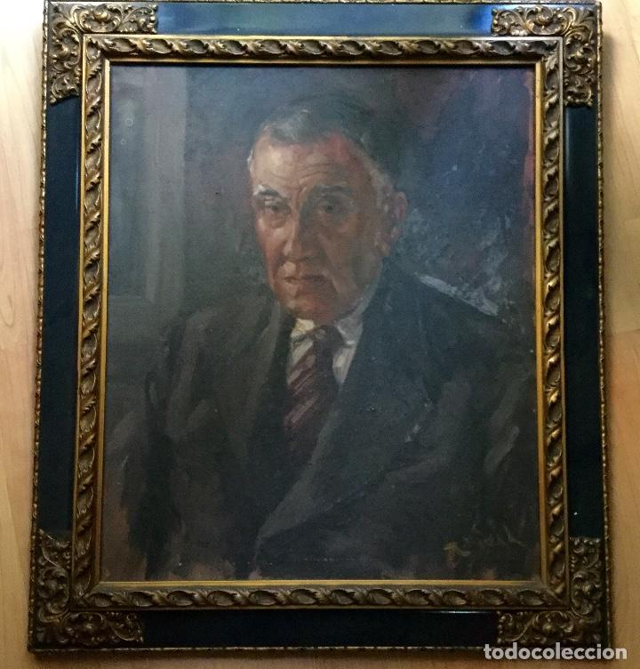 Arte: Antiguo retrato masculino firmado R.Vidal - Foto 2 - 134942330