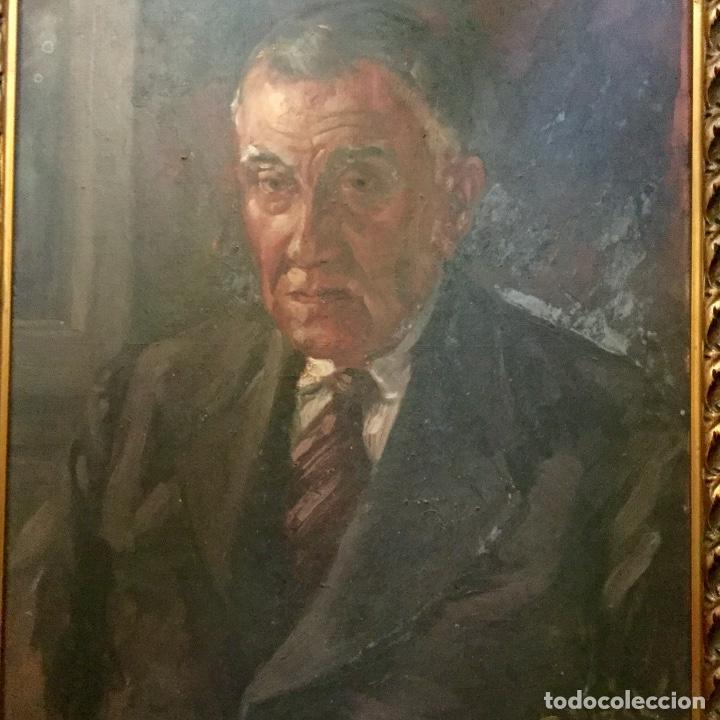Arte: Antiguo retrato masculino firmado R.Vidal - Foto 3 - 134942330