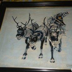 Arte: PINTURA AL OLEO SOBRE LIENZO FIRMADA POR ANTONIO GALLARDO.. Lote 134955009