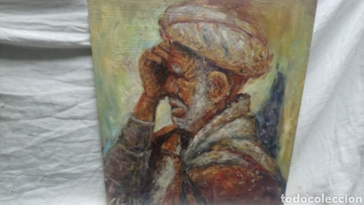 RETRATO (HOMBRE BAJO LA SOMBRA) (Arte - Pintura Directa del Autor)