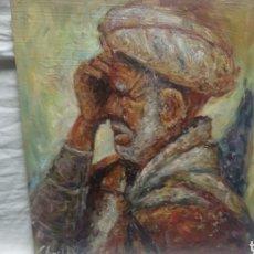 Arte: RETRATO (HOMBRE BAJO LA SOMBRA). Lote 134961063