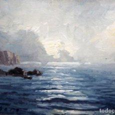 Arte: RAFAEL FERNÁNDEZ DE SOTO (BAGÀ 1915 - BARCELONA 1984) OLEO SOBRE TABLA. MARINA. Lote 135011990