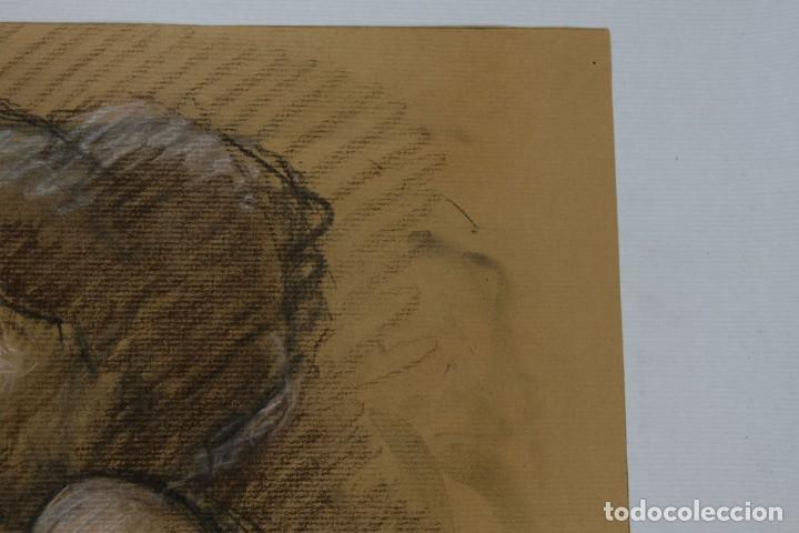 Arte: Carboncillo y pastel Desnudo femenino años 80 - Foto 4 - 135049506