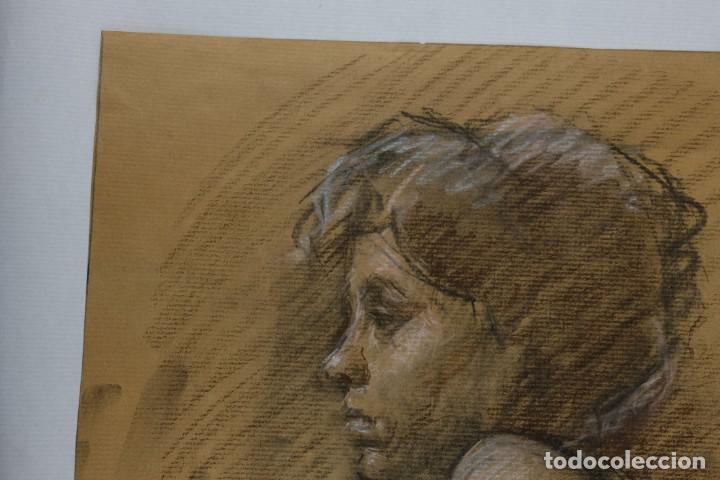 Arte: Carboncillo y pastel Desnudo femenino años 80 - Foto 5 - 135049506
