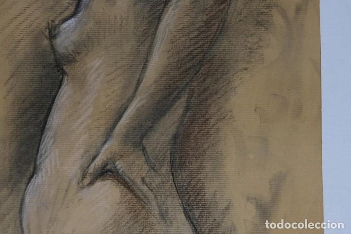 Arte: Carboncillo y pastel Desnudo femenino años 80 - Foto 8 - 135049506