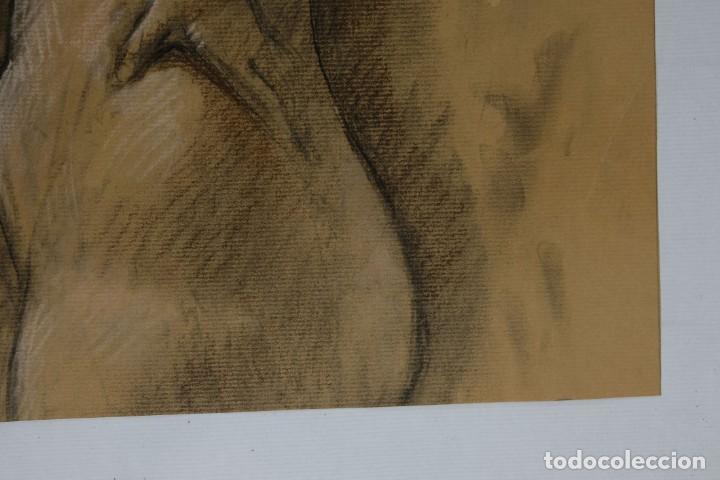 Arte: Carboncillo y pastel Desnudo femenino años 80 - Foto 9 - 135049506