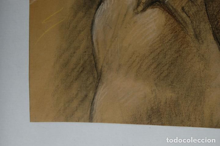 Arte: Carboncillo y pastel Desnudo femenino años 80 - Foto 10 - 135049506