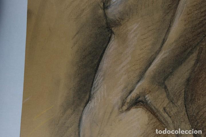 Arte: Carboncillo y pastel Desnudo femenino años 80 - Foto 11 - 135049506