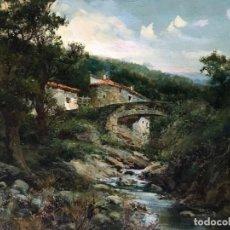 Arte: JOSÉ FRANCO CORDERO (1851-1910) PINTOR ESPAÑOL - ÓLEO SOBRE TELA - MOLINO CASTELLANO. Lote 135065478