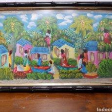 Arte: CUADRO AFRICANO PEQUEÑO. Lote 135143935