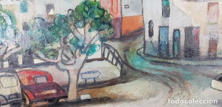 Arte: CALLE DE PUEBLO. ÓLEO SOBRE TABLA. RAMON AGUILAR MORÉ. 1981. - Foto 6 - 135189522