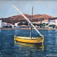 Arte: RAFAEL DURAN BENET - MARINA - ÓLEO. Lote 135217514