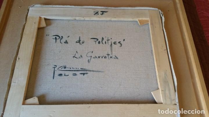 Arte: Pintura oleo sobre lienzo PERE COLLDECARRERA PLA DE POLITJES GARROTXA OLOT - Foto 8 - 135239606
