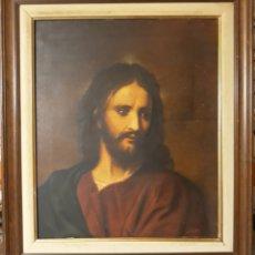 Arte: OLEO SOBRE LIENZO SAGRADO CORAZON DE JESUS FIRMADO. Lote 135258866