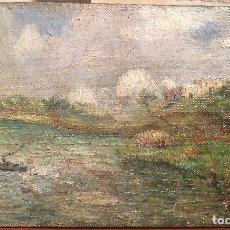 Arte: LAS LAVANDERAS. ESCUELA HOLANDESA CIRCA 1900.. Lote 135315242