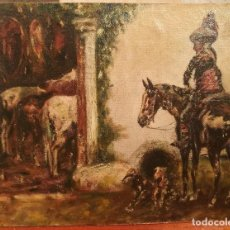 Arte: EL CAZADOR. ESCUELA ESPAÑOLA CIRCA 1900. Lote 135316742