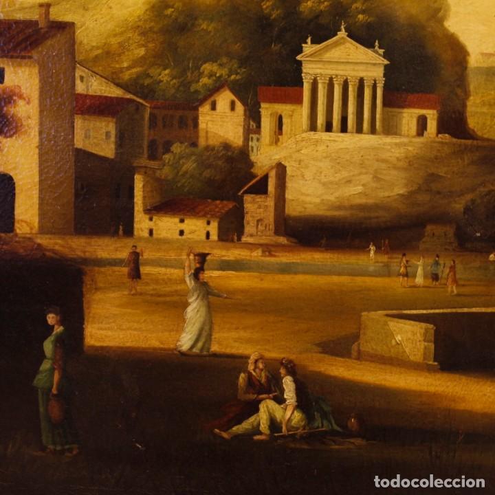 Arte: Pintura al óleo sobre lienzo con paisaje del siglo XX - Foto 4 - 135343106