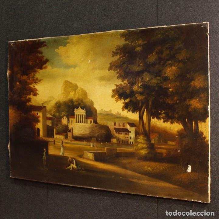Arte: Pintura al óleo sobre lienzo con paisaje del siglo XX - Foto 8 - 135343106