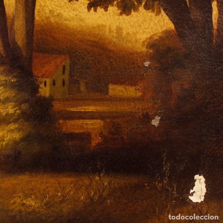 Arte: Pintura al óleo sobre lienzo con paisaje del siglo XX - Foto 10 - 135343106