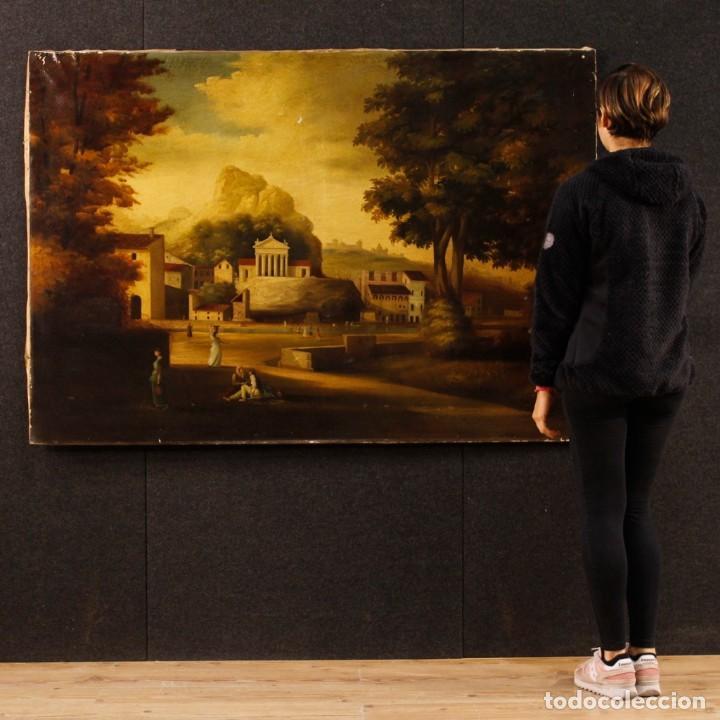 Arte: Pintura al óleo sobre lienzo con paisaje del siglo XX - Foto 12 - 135343106